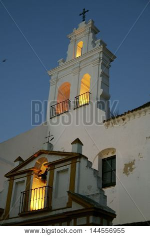 Beautiful view of San Francisco church, Ayamonte. SPAIN