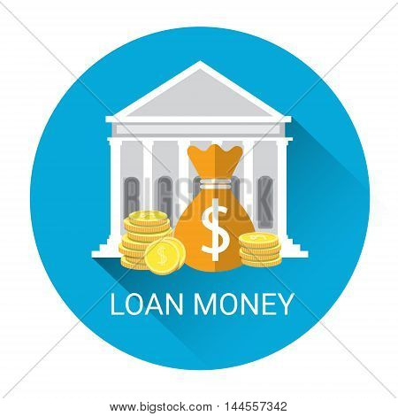 Banking Money Loan Business Economy Icon Flat Vector Illustration