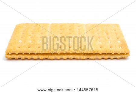 cracker sandwich salt, fragrant on a white background