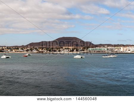 Corralejo a town located on the northern tip of Fuerteventura. on Canary Island Fuerteventura Province Las Palmas Spain