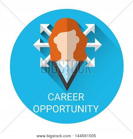Business Career Opportunity Icon Flat Vector Illustration