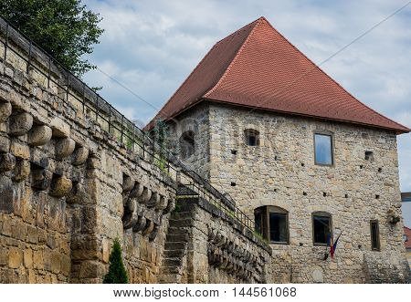 Tailors' Bastion in Cluj-Napoca city in Romania
