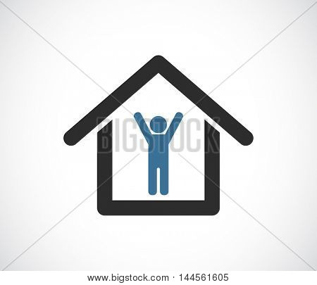person in house icon