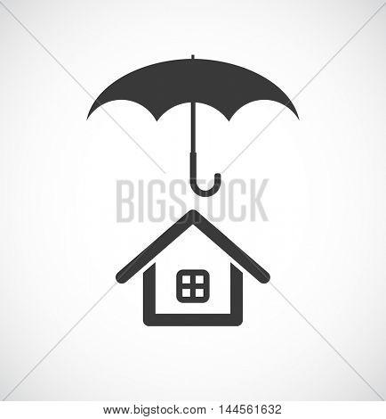 house under umbrella icon
