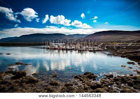 Pier fishing vessels in northern Norway - North Cape (Nordkapp)