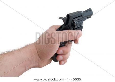 Gun In A A Man'S Hand