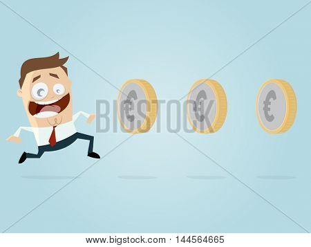 businessman is earning money like playing a game