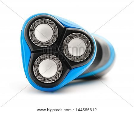 Electric shaver on white background isolated .