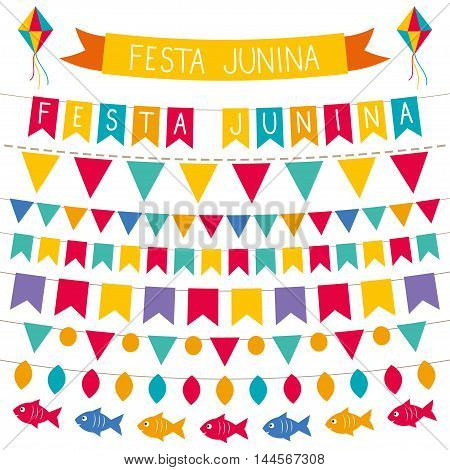 Festa Junina (Brazilian June party) decoration set