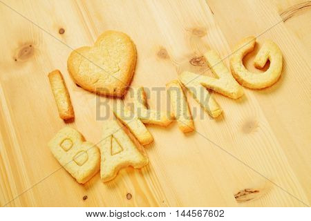 I Love Baking Text