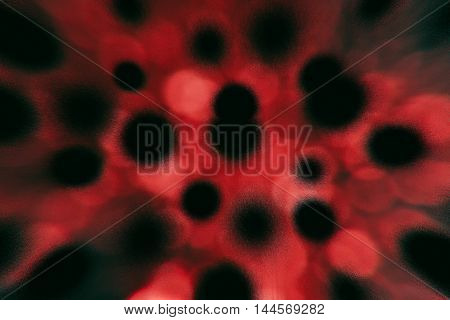 Red blood cells with disease sick black cells pattern background
