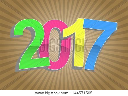 2017 Year Sunburst