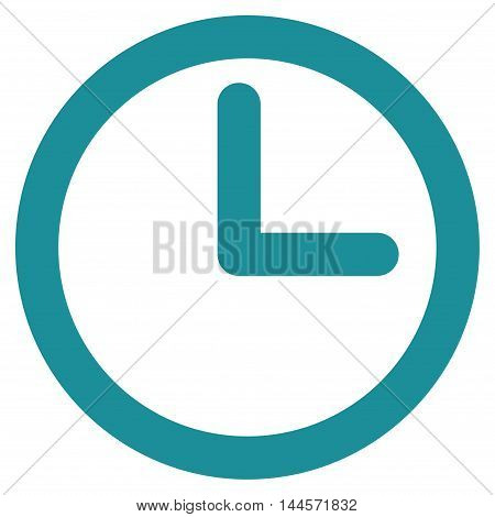 Time vector icon. Style is outline flat icon symbol, soft blue color, white background.