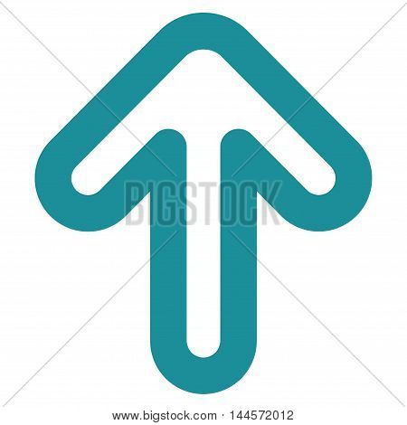 Up Arrow vector icon. Style is contour flat icon symbol, soft blue color, white background.