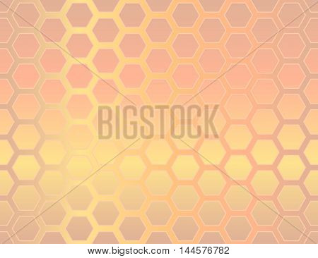 Seamless geometric hexagon background, abstract vector pattern