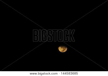 Dark Sky With Moon During Eclipse