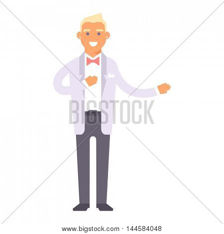 Wedding groom man vector isolated