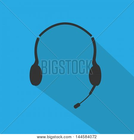 Headphones vector illustration on a white background