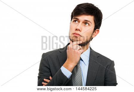Thoughtful man portrait