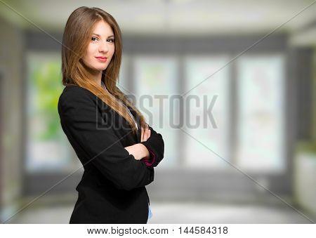 Charming confident secretary portrait