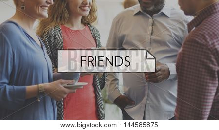 Friends Friendship Together Interaction Communication Concept