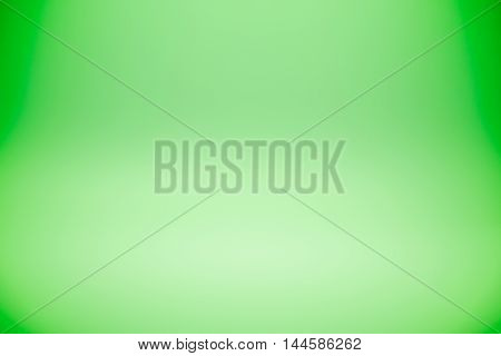 Green gradient abstract studio wall for backdrop design for product or text put over
