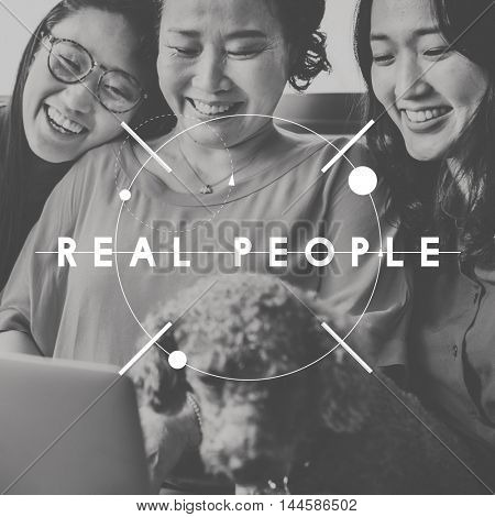 Real People Good Honest Graphic Concept