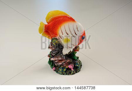 Colorful Handicraft Golden Fish Statue