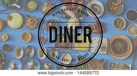 Diner Food Eating Party Celebration Concept