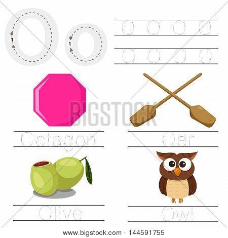Illustrator of Worksheet for children O font