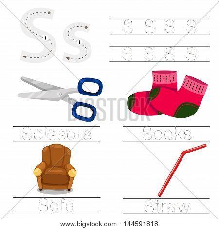 Illustrator of Worksheet for children s font