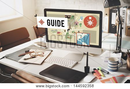 Guide Coaching advice Lead Strategy Manage Concept