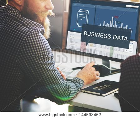 Analytics Marketing Research Business Data Progress Concept