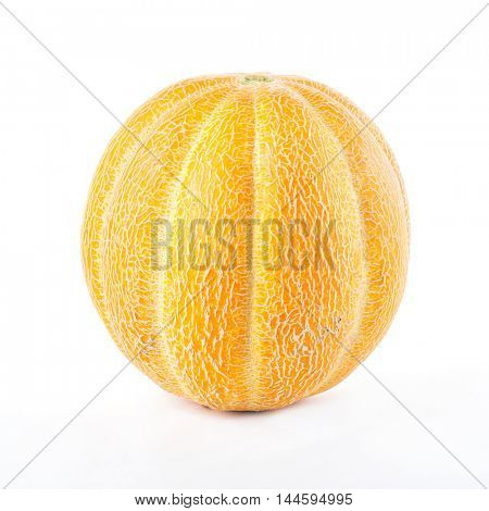 ripe melon isolated on white background