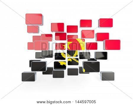 Flag Of Angola, Mosaic Background