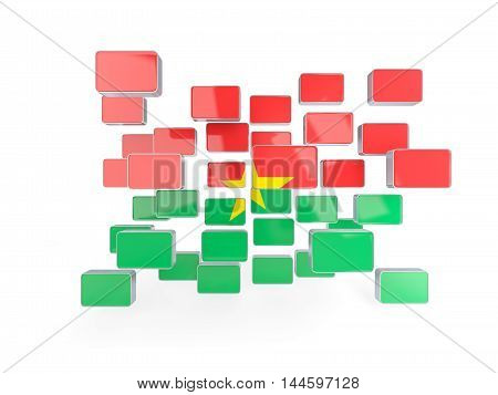 Flag Of Burkina Faso, Mosaic Background