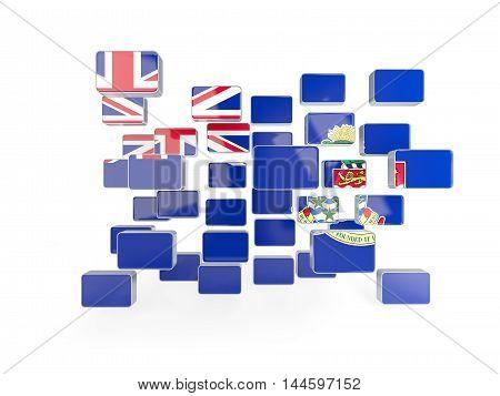 Flag Of Cayman Islands, Mosaic Background