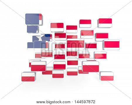 Flag Of Liberia, Mosaic Background