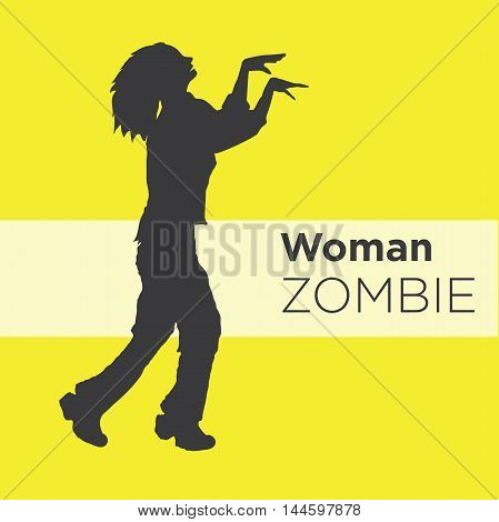 Zombie Silhouette Side View Images