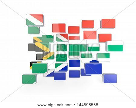 Flag Of South Africa, Mosaic Background