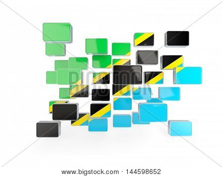 Flag Of Tanzania, Mosaic Background
