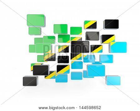 Flag Of Tanzania, Mosaic Background