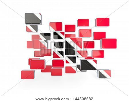 Flag Of Trinidad And Tobago, Mosaic Background