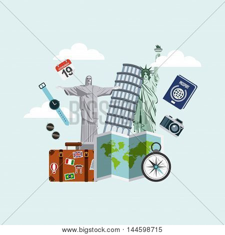 enjoy vacations travel isolated icon vector illustration design