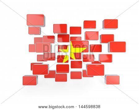 Flag Of Vietnam, Mosaic Background