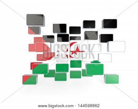 Flag Of Western Sahara, Mosaic Background
