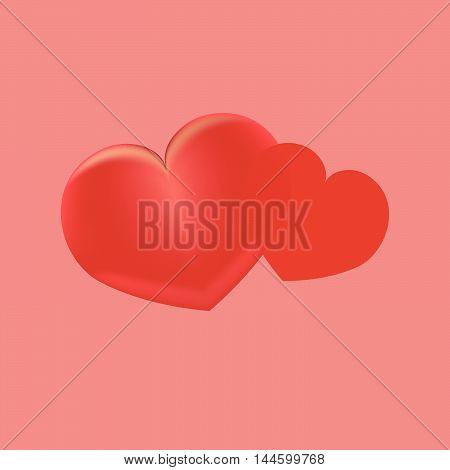 Heart gift present Valentine s day vector background