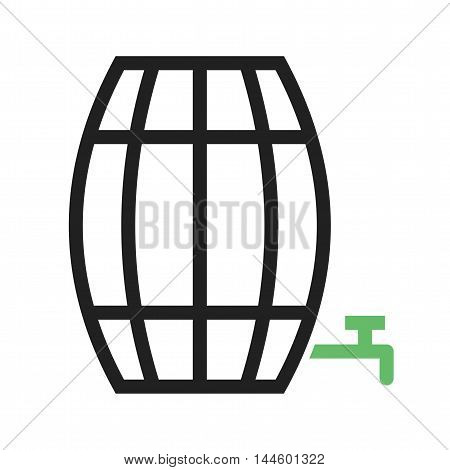 Barrel, farm, wooden icon vector image. Can also be used for farm. Suitable for mobile apps, web apps and print media.