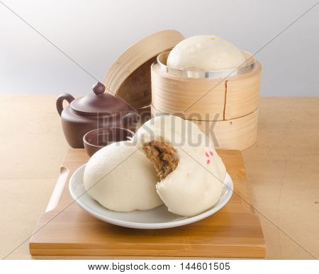 Pao And Chinese Tea On A Background.