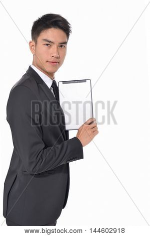 Business young man portrait isolated